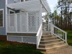 deck privacy lattice lattice privacy screen plans
