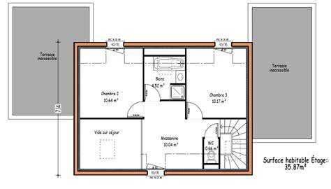 plan maison 3 chambres etage les constructions de maisons en projet en loire atlantique 44