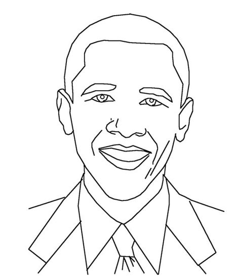 obama free colouring pages
