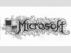 Famous Company Logos in Black Metal Typography – Designbolts Naturalistic Design Drawing