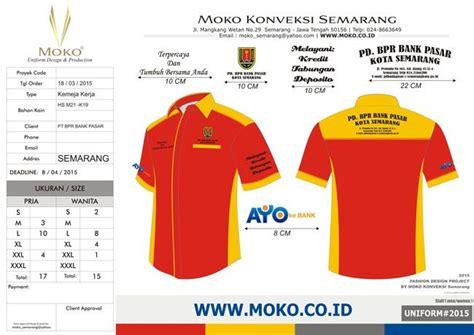 Kaos Tulisan Jakarta Merah pakaian seragam bpr bank pasar kota semarang jawa tengah