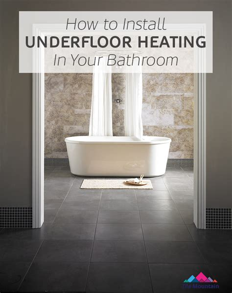 how to install a bathroom how to lay and install underfloor heating mats tile mountain