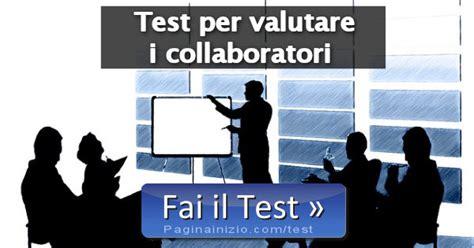 pagina inizio test test per la valutazione dei collaboratori