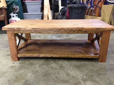 rustic coffee table by tom56 lumberjocks