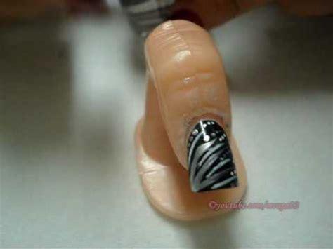 imagenes de uñas negras con plateado dise 241 o de u 241 as plateado y negro peticion de mcpeny youtube
