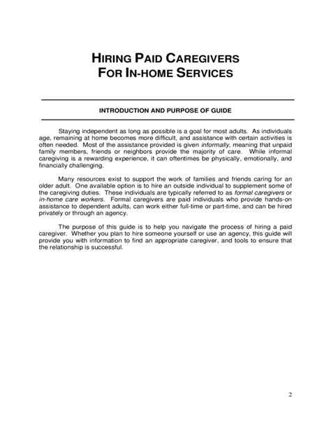 caregiver agreement template hiring formal caregivers for in home services michigan