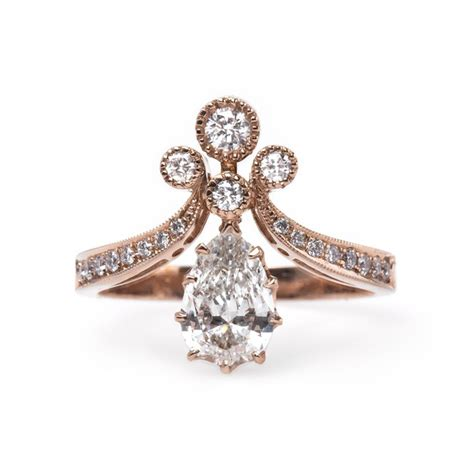 vintage style gold engagement rings wedding