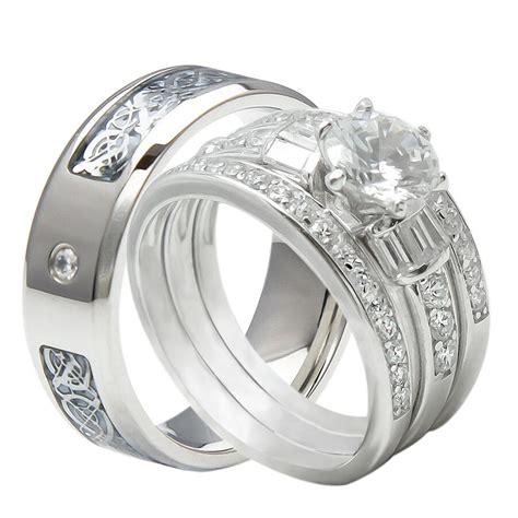 pcs    tungsten  sterling silver wedding