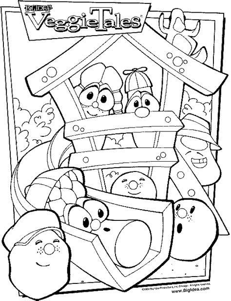 The Ultimate Veggietales Web Site 187 Coloring Veggie Tales Colouring Pages