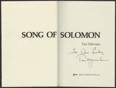 song of solomon a toni morrison an american literary treasure