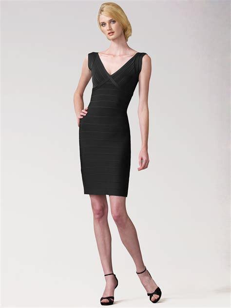 Bandage Dress herv 233 l 233 ger diane cap sleeve bandage dress in black lyst