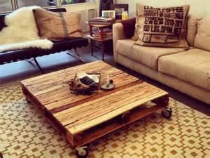 Tables basses de salon en palettes relooker un meuble