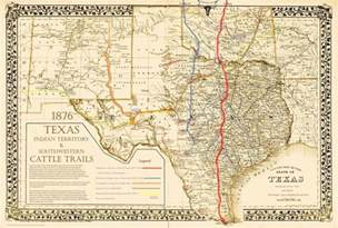 1876 great chisholm goodnight western cattle trails