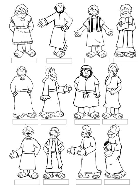 Coloring Page 12 Disciples mountain of grace homeschooling the twelve apostles lesson
