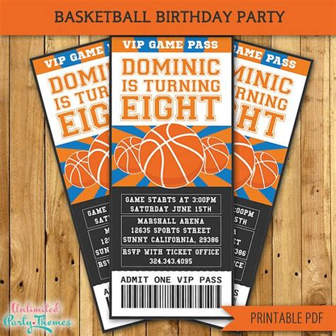 nba printable birthday invitations basketball invitation basketball party invitation