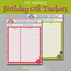 buying gifts tracker sheet 1000 images about birthday on the diy and crafts and 40th birthday