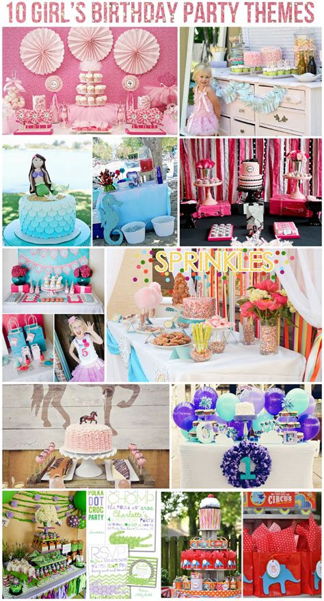 party themes cool top 10 girl s birthday party themes on pizzazzerie com