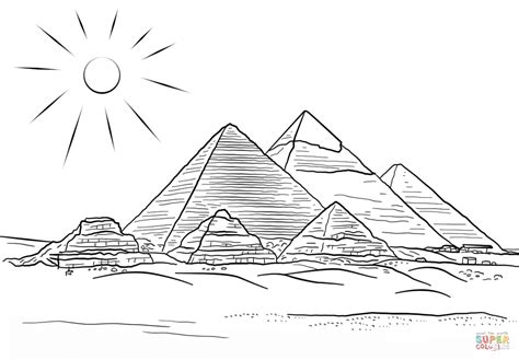 coloring pages egyptian pyramids giza pyramids coloring page free printable coloring pages