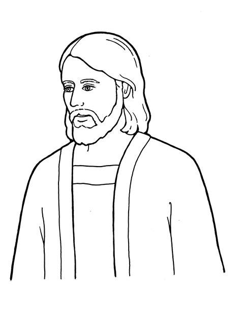 template of jesus simple pencil of jesus coloring pages