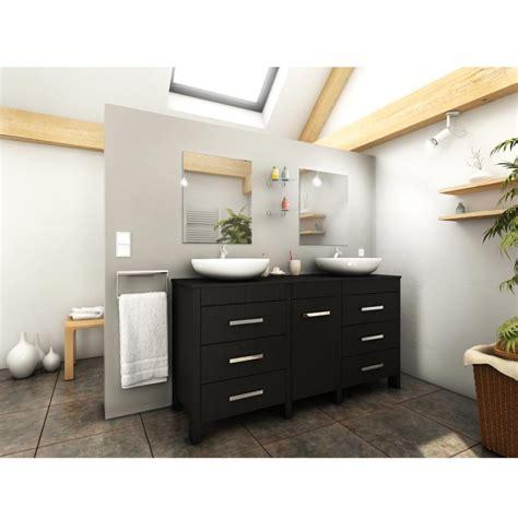 ensemble meuble salle de bain quot roma quot 150cm noir