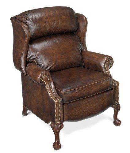 couples recliner bradington young furniture chippendale ball claw wingback