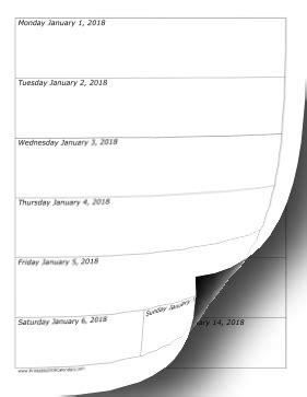 printable weekly calendar vertical