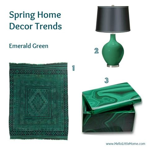 color your home emerald green the decollage my favorite spring home d 233 cor trends