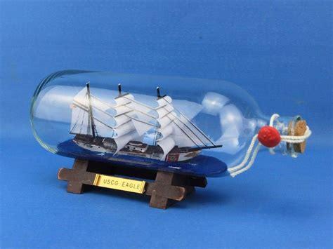 boat in a bottle buy uscg eagle ship in a bottle 9 quot model ship assembled