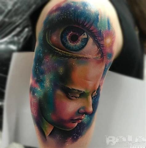 psychedelic eye face amp galaxy best tattoo design ideas