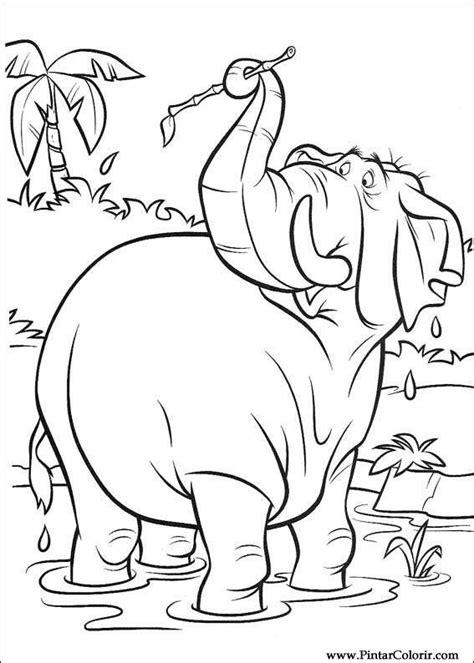 Desene Pentru Paint și culoare Cartea junglei 2 - Print