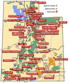 Utah State Map by Map Of Utah State Parks New York Map