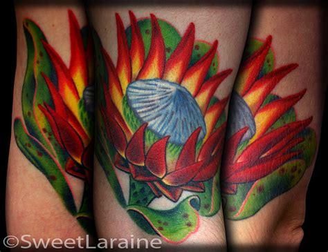 tattoo protea flower king protea by sweet laraine tattoos