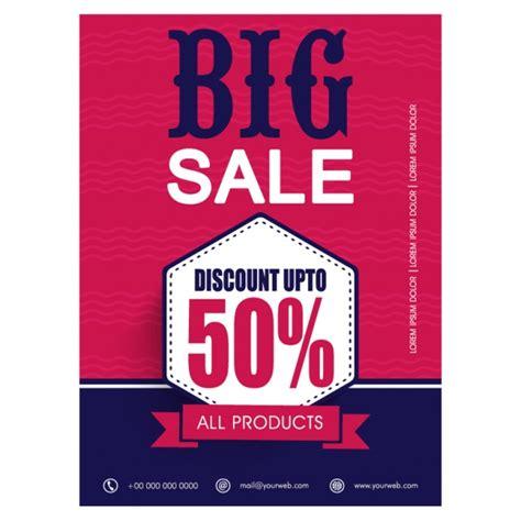sale poster template free sale poster template in flat design vector premium