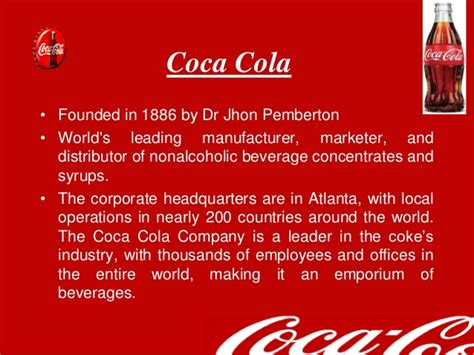 firma coca cola marketing strategies of coca cola company