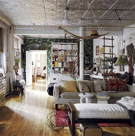 Bohemian Interior Design by Adorable Bohemian Interior Design With Gray Couch Front