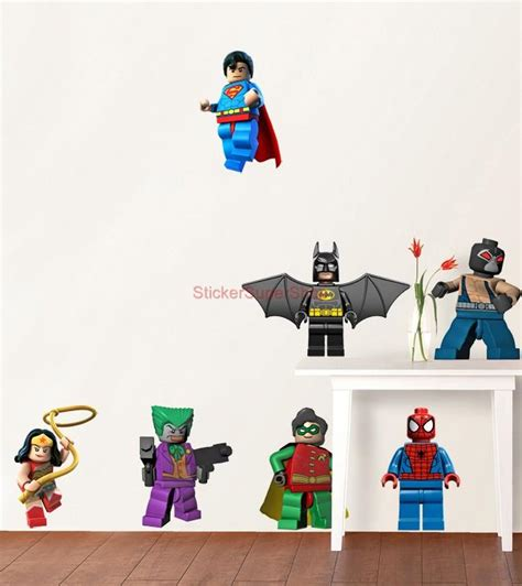 lego wall stickers lego batman 11 characters decal removable wall sticker