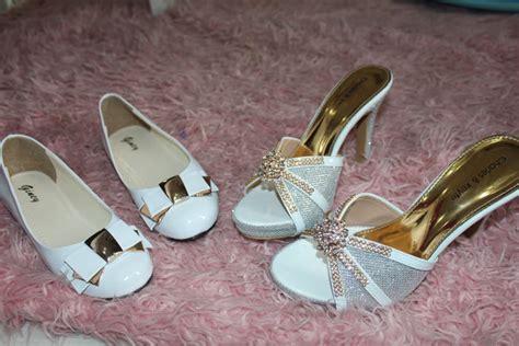 Wedges Selop Pesta sepatu flat dan selop heels pesanan pada tanggal 12 mei 2014
