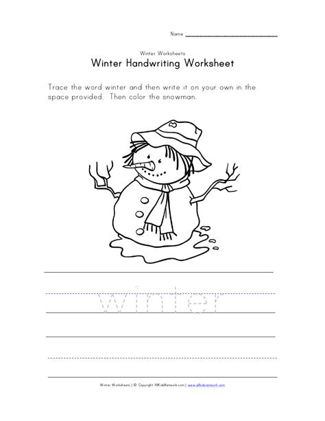 Winter Worksheets by Winter Worksheets Activities Sheets For Snowman