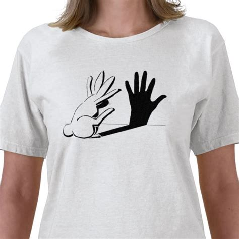 Best Seller Rabbit Top Bl4869 shadow rabbit sign humor bunny rabbit a shadow puppet a best seller