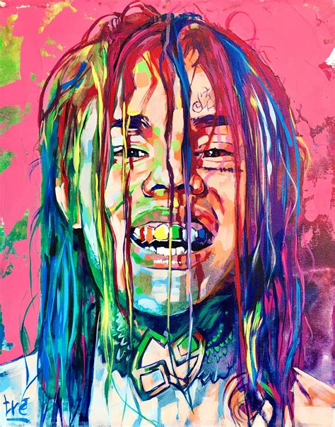 Drawing 6ix9ine by Tekashi 69 6ix 9ine Acrylic Painting 2017 2018
