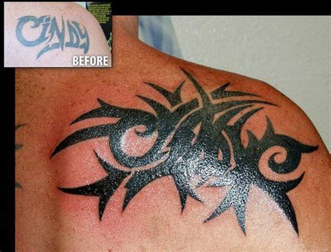 tribal tattoo cover ups before and after meaning cover up tattoos