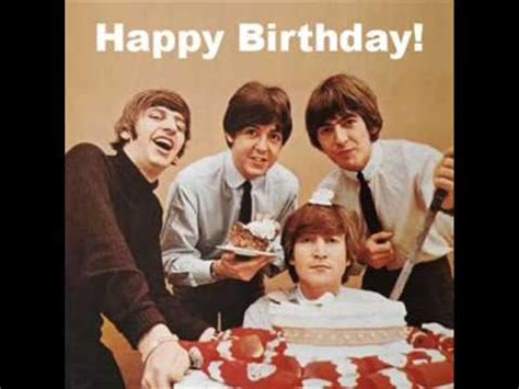 Happy Birthday Images With The Beatles | the beatles happy birthday to you youtube