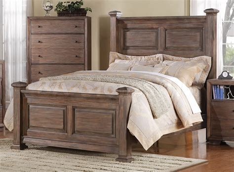 distressed wood bed set bed furniture decoration