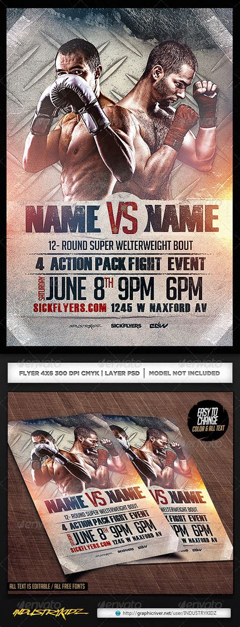 Boxing Flyer Template Psd By Industrykidz Graphicriver Graphicriver Iii Flyer Template