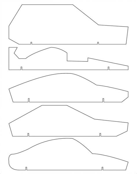 templates for pinewood derby cars free pinewood derby car templates template business