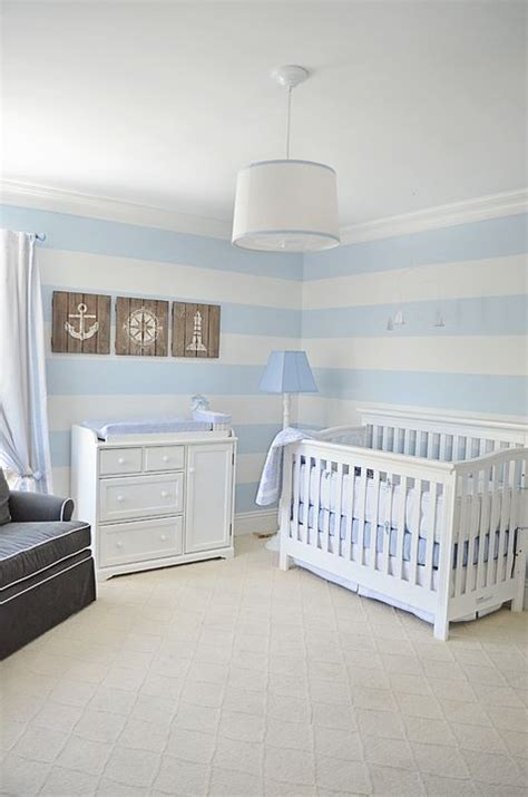 Diy Nautical Nursery Decor Blue And White Stripe Nautical Nursery Baby Boy Nautical Nursery Blue And The O