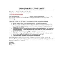 Cover Letter Via Email Template Cover Letter Via Email Cover Letter Templates