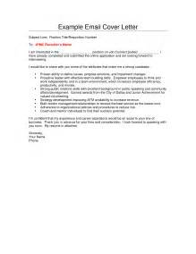 how to email a cover letter cover letter via email cover letter templates