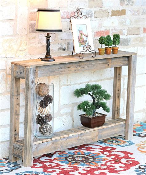 natural  rustic entryway table