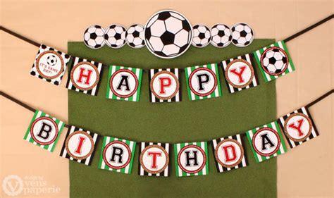 printable birthday soccer banner soccer birthday party diy printable happy birthday banner